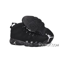 "Air Jordan 9 ""Anthracite"" Anthracite/Black-White Basketball Shoes Free Shipping"