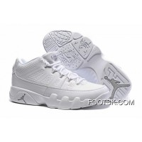 Air Jordan 9 Low White/White-Chrome Free Shipping Tzzrw