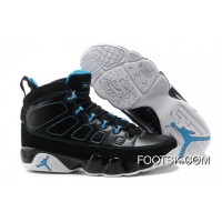 Air Jordan 9 Retro Black/Photo Blue-White Online 22khmC