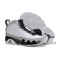 """Barons"" Air Jordan 9 Retro White/Black-Natural Grey Free Shipping ZiDEEt"