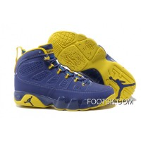 """Calvin Bailey"" Air Jordan 9 Retro Deep Royal/University Gold-White Online ZxRcJ"