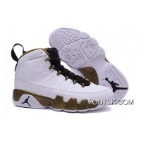 'Copper Statue' Air Jordan 9 White/Black-Militia Green Authentic AGxspcN
