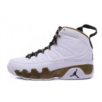 "2015 Air Jordan 9 Retro ""Statue"" White/Black-Militia Green Cheap Sale"