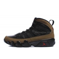 "Air Jordan 9 Retro ""Olive"" Black/Light Olive-Varsity Red For Sale Online"