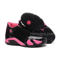 Air JD 14 (XIV) Girls Black/Desert Pink Cheap For Sale New Arrival