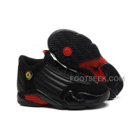 Air JD 14 (XIV) GS Black/Black-Varsity Red Cheap For Sale New Arrival