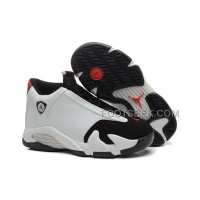 Air JD 14 (XIV) GS Black Toe White/Black-Varsity- Red-Metallic Silver For Sale New Arrival