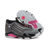 Air JD 14 (XIV) GS Metallic Dark Grey/Black-White-Hyper Pink For Sale New Arrival