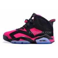 Air JD 6 Retro Girls Size Black/Vivid Pink Cheap For Sale Online New Arrival