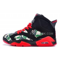 Air JD 6 Retro GS Camo Black Red For Sale Online New Arrival