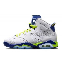 Air JD 6 Retro GS White/Bright Grape-Deep Royal-Fierce Green For Sale New Arrival