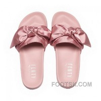 Puma X Fenty Bow Slide Silver Pink-Puma Silver Women Sandals Style Number 365774-03 Discount