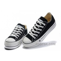 Lastest Black Platform CONVERSE All Star Canvas Women Shoes Classic