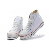 For Sale White Classic Platforms CONVERSE All Star Canvas Women Shoes