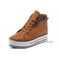 Online CONVERSE All Star Platform Maroon Leather Leopard