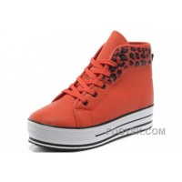 For Sale Orange Red CONVERSE All Star Platform Leopard Leather