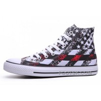 Black Friday Deals Unisex Red CONVERSE American Flag Print Chuck Taylor All Star