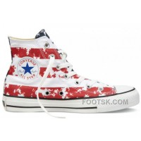 CONVERSE American Flag Red White Blue Chuck Taylor All Star Canvas Shoes Discount