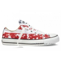 Free Shipping CONVERSE American Flag Red White Blue Chuck Taylor All Star Canvas Shoes