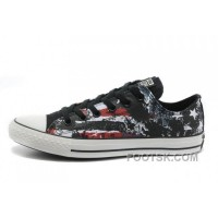 CONVERSE American Flag All Star Black Red White Graffiti Print Chuck Taylor Canvas Sneakers Hot
