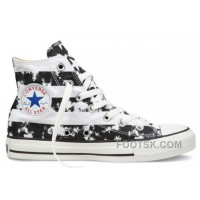 Discount CONVERSE American Flag Black And White Chuck Taylor All Star Canvas Shoes
