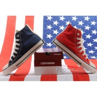 Authentic Jointly CONVERSE American Flag Blue & Red Chuck Taylor All Star High Tops Canvas Sneakers