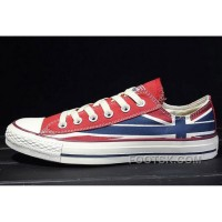 CONVERSE Rock Union Jack British Flag Red Blue Chuck Taylor All Star Canvas Sneakers Lastest