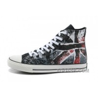 CONVERSE British Flag All Star Union Jack Flag Black Red Athletic Shoes Super Deals