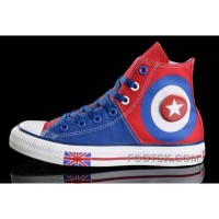 Harper Beckham CONVERSE British Flag Blue Red Tonal Stitching Canvas Online