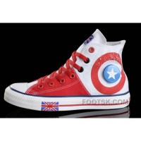 Black Friday Deals CONVERSE British Flag White Red Tonal Stitching Canvas Harper Beckham