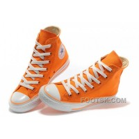 Top CONVERSE New Color Orange Dazzling Chuck Taylor All Star Canvas Women Sneakers