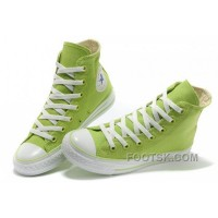Discount Fresh CONVERSE New Color Dazzling Light Green Chuck Taylor All Star Canvas Women Sneakers