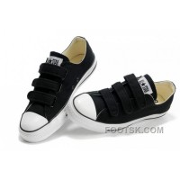 Velcro CONVERSE All Star Black 3 Strap Canvas Shoes Online