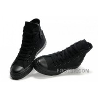Black CONVERSE All Star Monochromatic Canvas Sneakers Xmas Deals