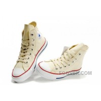 Authentic Beige CONVERSE Chuck Taylor All Star Unbleached White Canvas Shoes