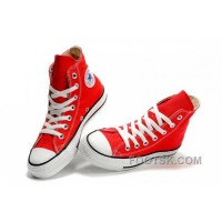 Red CONVERSE Chuck Taylor All Star Canvas Sneakers Lastest