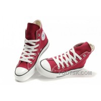 Hot CONVERSE Chuck Taylor All Star Maroon Canvas Shoes