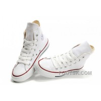 Hot CONVERSE High Top Chuck Taylor All Star Optical White Canvas Shoes