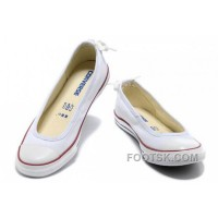 Discount CONVERSE All Star Light Summer White Ballet Flats Dainty Ballerina Canvas Ladies Shoes