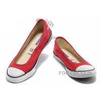 Lastest Red CONVERSE All Star Light Summer Collection Ballet Flats Dainty Ballerina Canvas Ladies Shoes