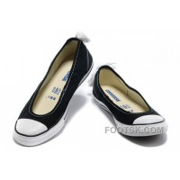 For Sale Black CONVERSE Summer Collection All Star Light Dainty Ballerina Ballet Flat Canvas Ladies Shoes