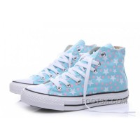 Discount Blue CONVERSE Small Stars Print Chuck Taylor All Star Women