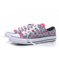 Black Friday Deals CONVERSE Graffi Stars Print Chuck Taylor All Star Women Grey