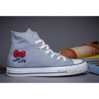 Free Shipping Blue CONVERSE Hello Kitty Chuck Taylor All Star