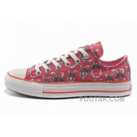 Double Tongue Pink CONVERSE Women Dr Suess Cindy Lou Who Canvas Lastest