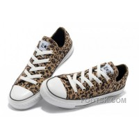 Brown CONVERSE All Star Leopard Print Rock N Roll Canvas Women Shoes Authentic