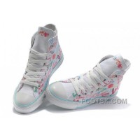 Authentic White CONVERSE All Star Chuck Taylor True Love Graffiti Canvas Shoes