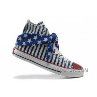 Discount All Star CONVERSE American Flag Blue Scarf Cravat Stripes