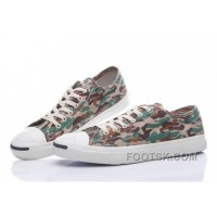Discount CONVERSE Jack Purcell Profile Camo Slip Army Green Canvas Low