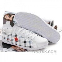Free Shipping Womens Converse One Star White Red Shoes